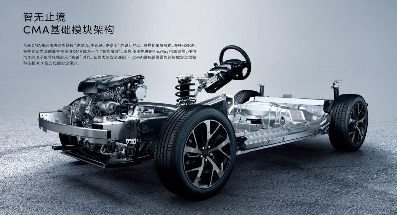 吉利汽車與Volvo合作開發的CMA模組化平台。 摘自領克汽車