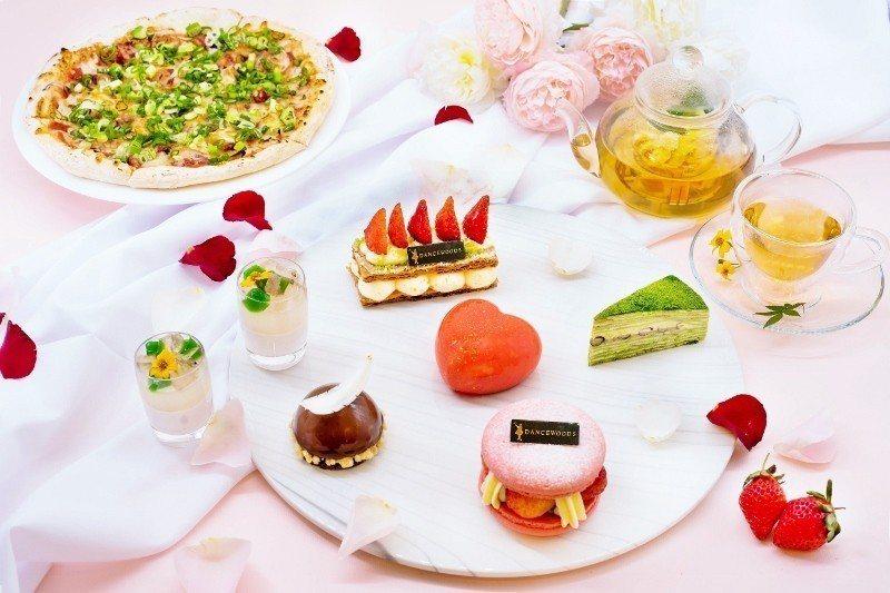 綠舞觀光飯店的情人節專屬下午茶。 業者/提供