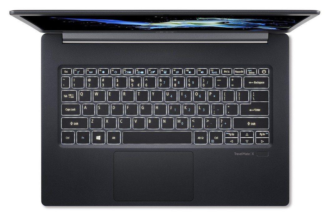 TravelMate X5系列採背光鍵盤。 宏碁/提供