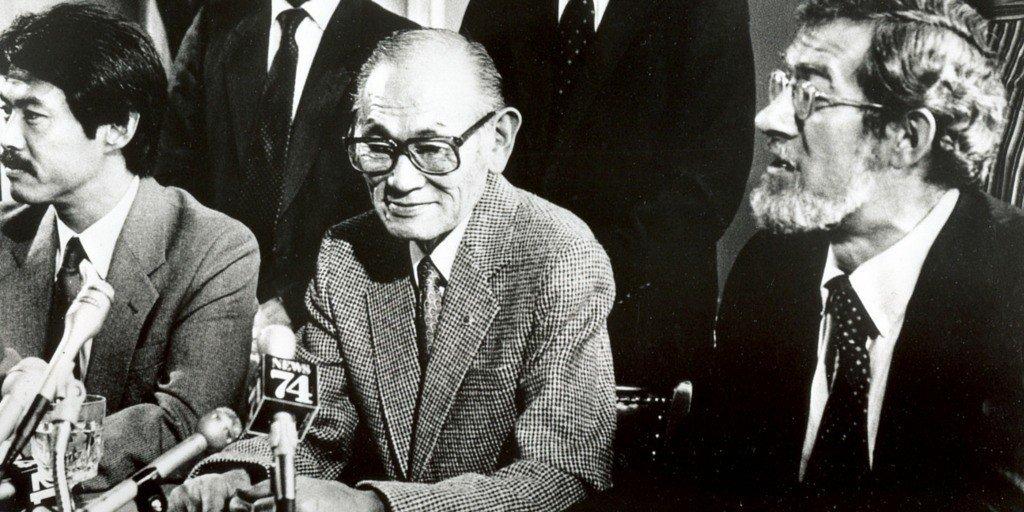 是松豊三郎(中)仍然不放棄,選擇向美國政府對簿公堂,便是著名的「是松訴合眾國案」...