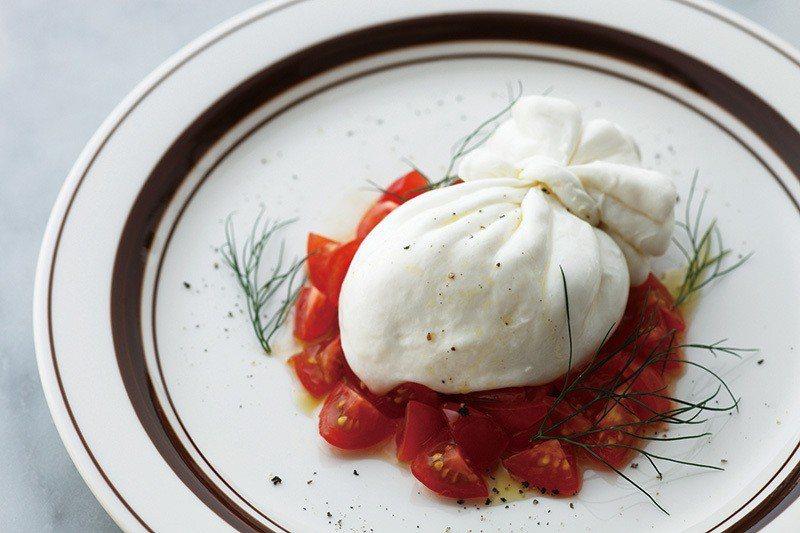 たっぷりトマトとブッラータ オレガノ添え (奧勒岡葉佐番茄與布拉塔乳酪)¥168...