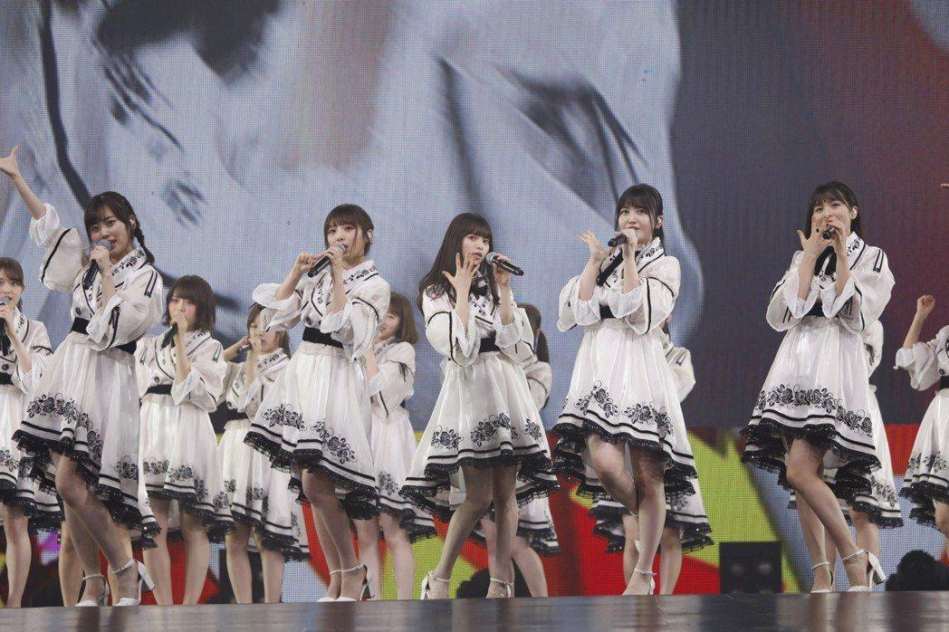 乃木坂46在台開唱。圖/好玩國際文化提供