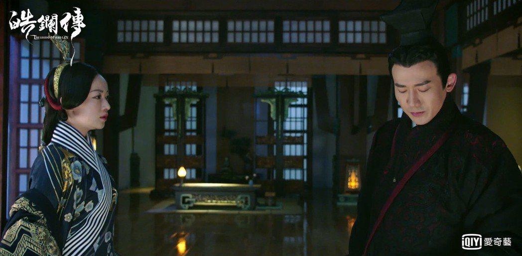 吳謹言(左)在「皓鑭傳」中想要感情卻一次次落空。圖/愛奇藝台灣站提供