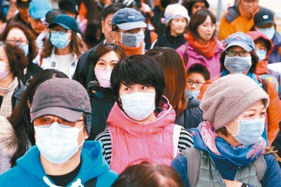民眾戴口罩。報系資料照