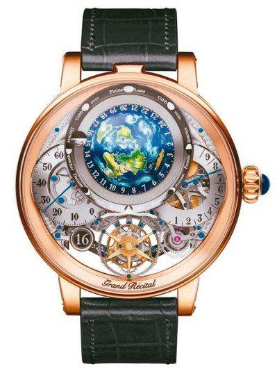Bovet複雜功能天文腕表獲選2018年GPHG金指針獎實至名歸。 圖/品牌提供
