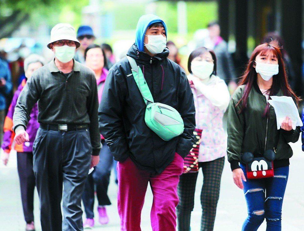 流感疫情吃緊,未來到春節罹患人數恐持續增加。圖/聯合報系資料照片