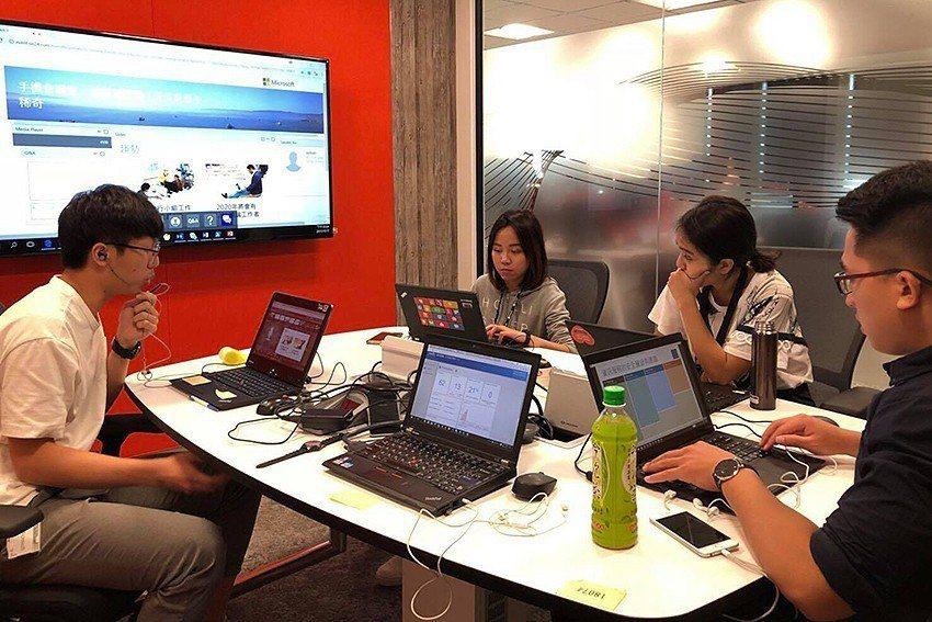 中原學生參與台灣微軟「未來生涯體驗計畫」。 中原大學/提供
