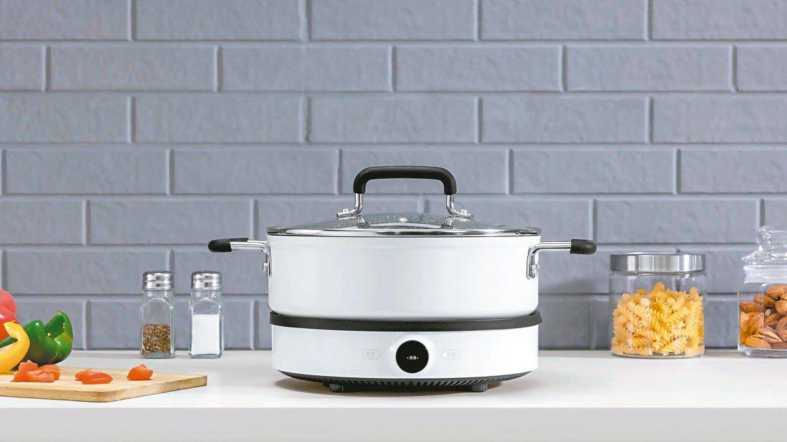 米家電磁爐及知吾煮湯鍋可以結合使用。 台灣小米╱提供