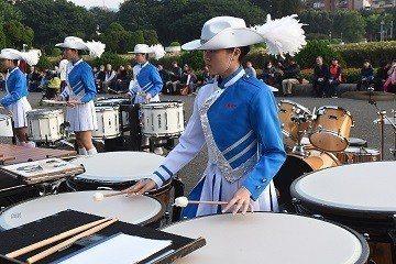 中山女高擊鼓表演。 國父紀念館/提供