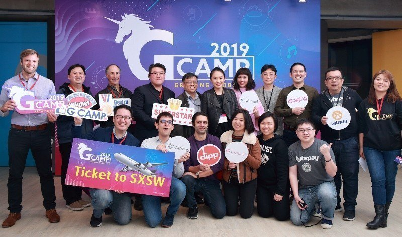 台灣新創企業芯符公司數位行銷經理向容(前排右三)表示,很慶幸參加了經濟部中小企業...