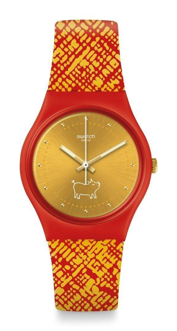 戴上它回头率百分百!这只Swatch小猪表太可爱