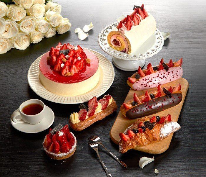 PAUL草莓季甜點持續至3/14。圖/PAUL提供