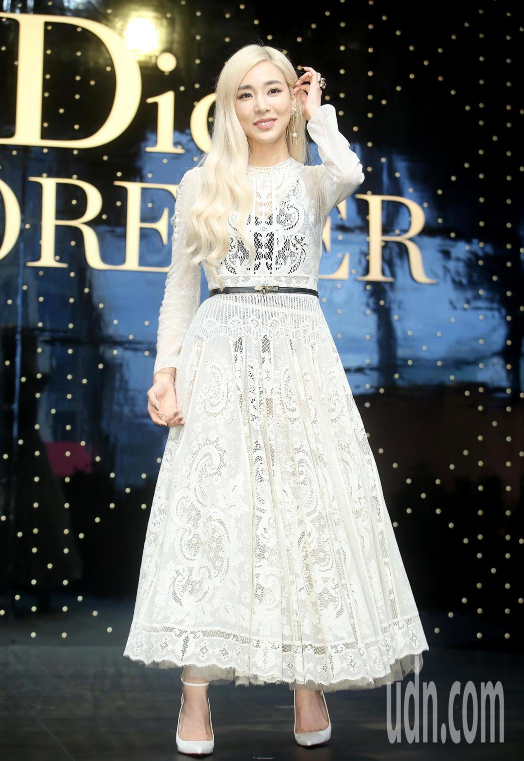 韓團「少女時代」前成員蒂芬妮(Tiffany)以Dior超完美底妝大使身分,出席...