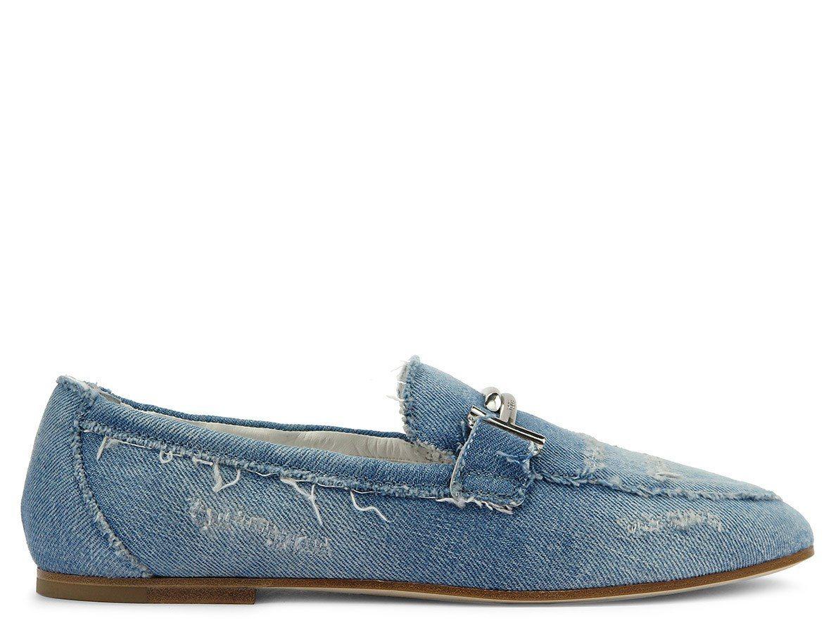 Double T飾釦單寧女士休閒鞋,售價25,000元。圖/TODS提供