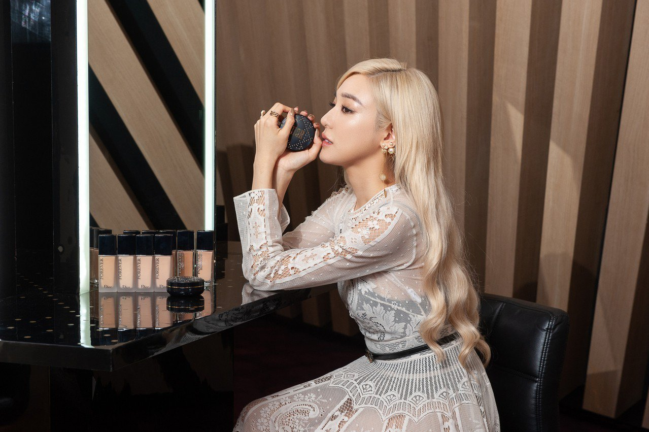 Tiffany來台參加「全新迪奧超完美底妝上市發表會」。圖/DIOR提供