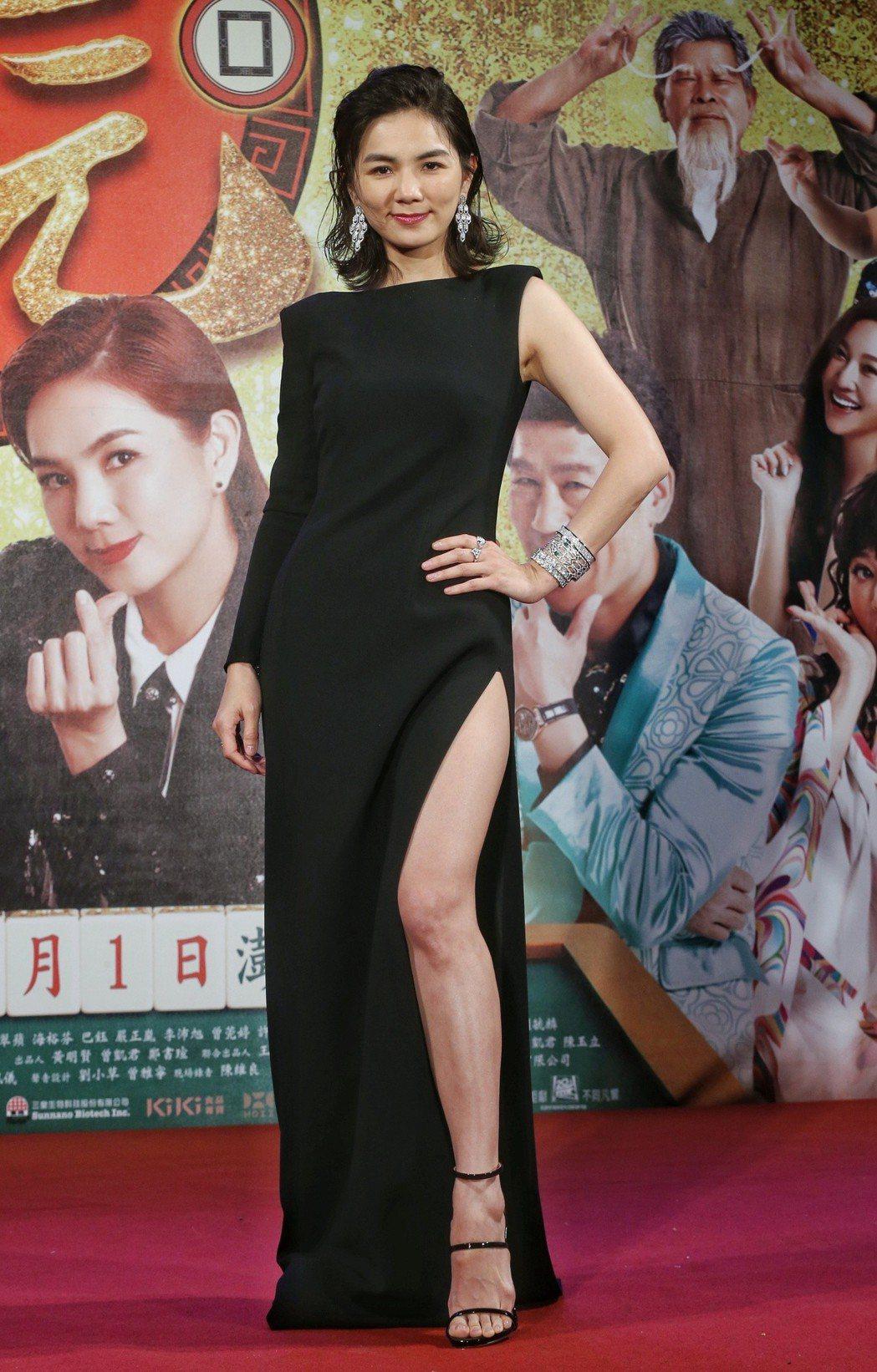 Ella出席電影首映。記者鄭清元/攝影