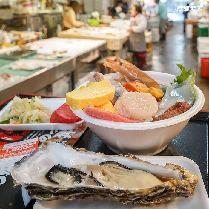 圖/古川市場自行客製化的海鮮大餐,很有滿足感。