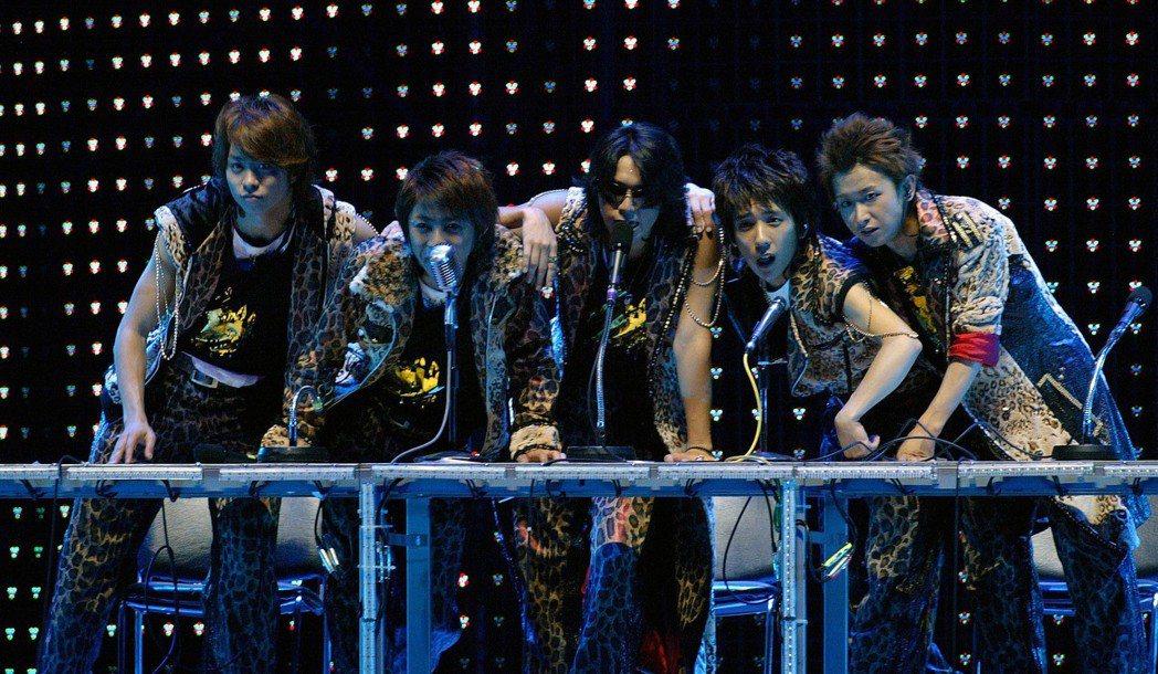 嵐2006年在台北的演唱會。圖/聯合報系資料照