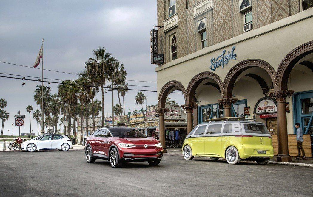 Volkswagen I.D. 電動車家族。 摘自Volkswagen