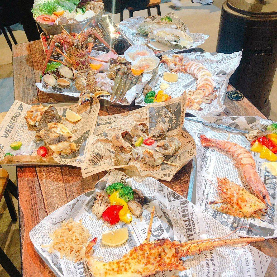 滿滿的海鮮料理,新鮮吃的到原味,風味一絕。蘇璽文/攝影