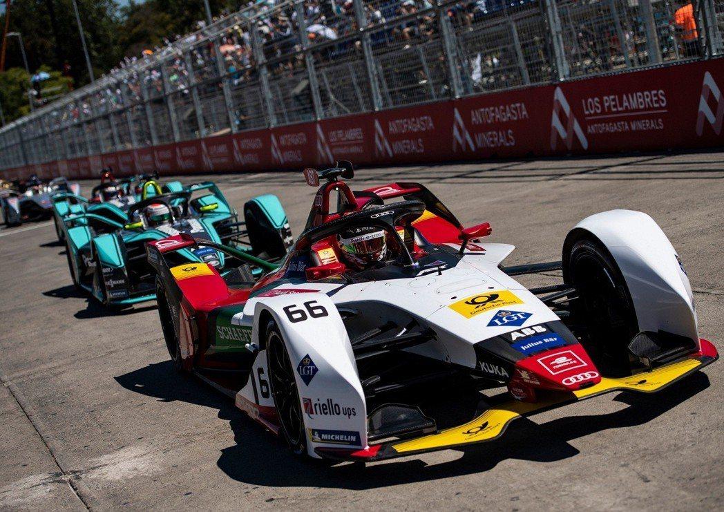 Audi Sport在Formula E 第三分站聖地牙哥站奪得季軍。 圖/台灣...