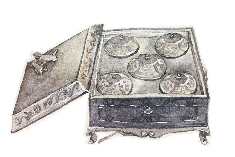 錫製一品鍋。 圖/聯經出版提供