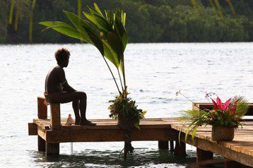 示意圖。攝於2012年9月,所羅門群島之一馬拉帕島。 圖/美聯社