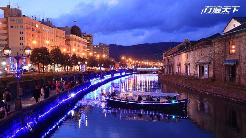 充滿懷舊氣氛的小樽運河。