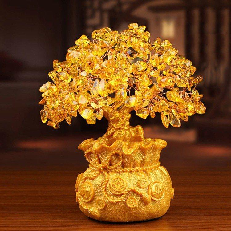 招財黃水晶開運發財樹聚寶盆 圖片由廠商提供