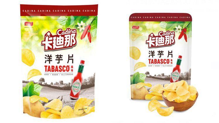 圖/卡迪那TABASCO風味洋芋片,420公克/145元