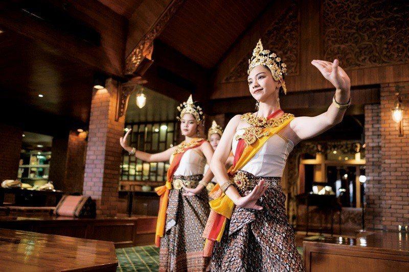 現場演出的泰國傳統樂舞,教人沈醉。