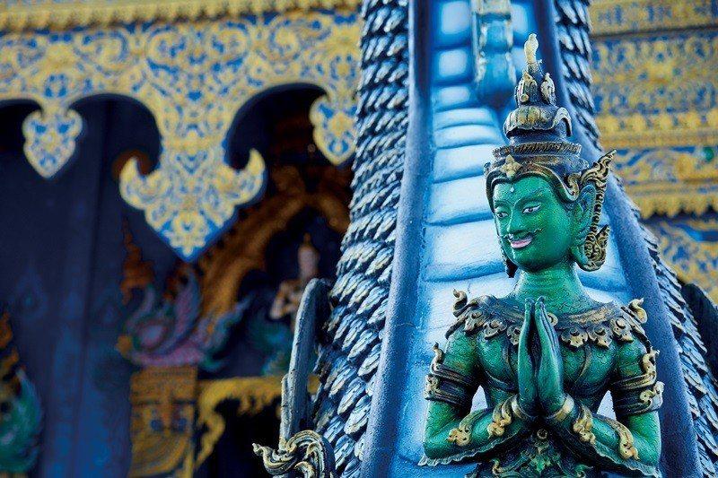 將信仰與藝術結合,藍廟所帶來的視覺衝擊超乎想像。