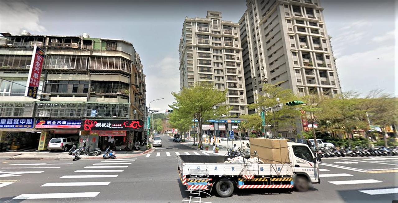 中央北路四段。取自google map