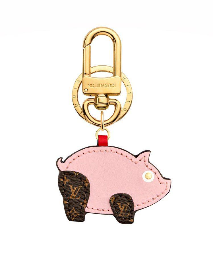 路易威登粉紅小豬掛飾,售價11,100元。圖/LV提供