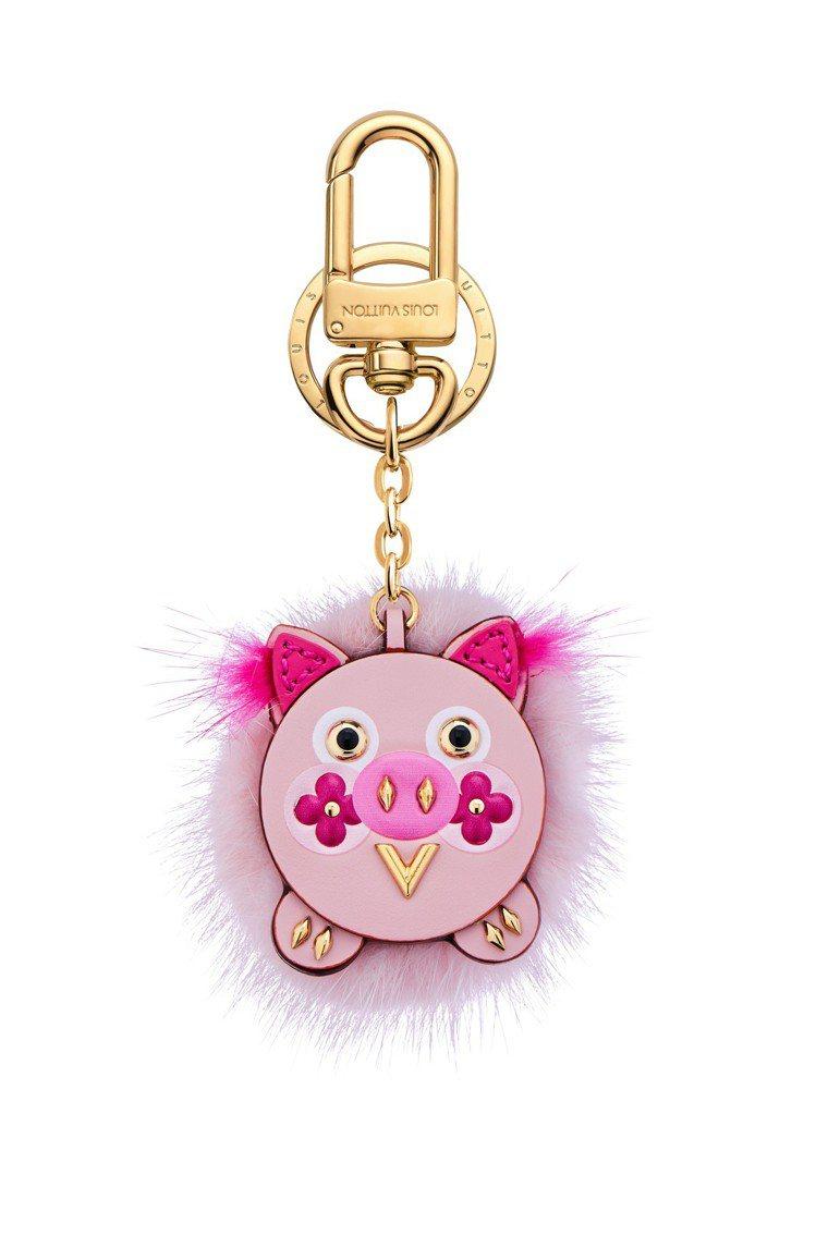 路易威登粉紅小豬掛飾,售價27,300元。圖/LV提供