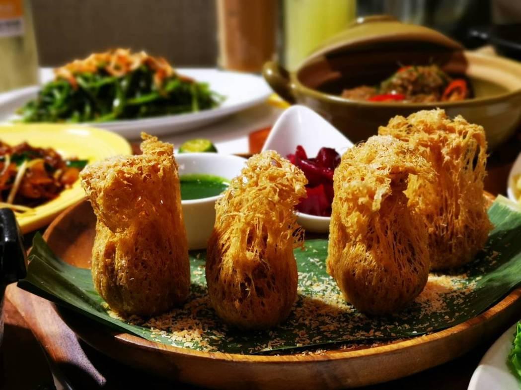 香酥咖哩芋角。記者韓化宇/攝影