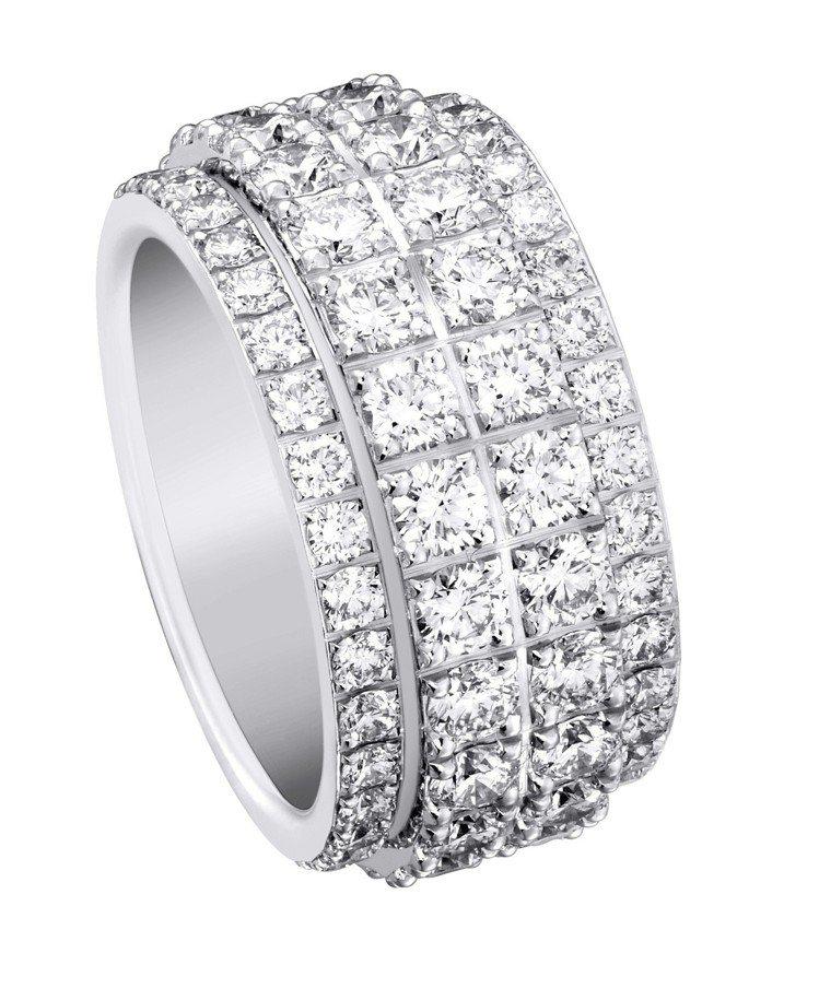 Possession指環,18K白金鑲嵌鑽石,約90萬元起。圖/伯爵提供