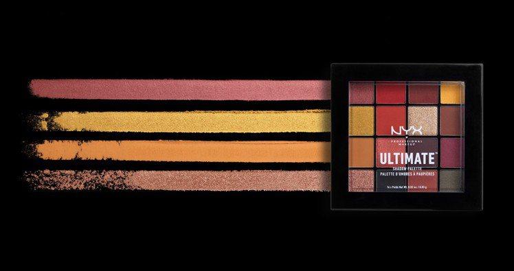 NYX Professional Makeup專業後台百變玩味16色眼影盤#09...