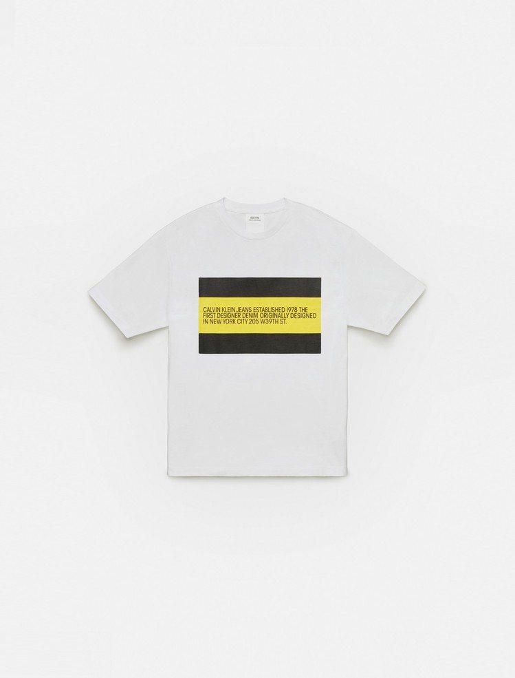 CALVIN KLEIN JEANS EST. 1978系列T恤。圖/CALVI...