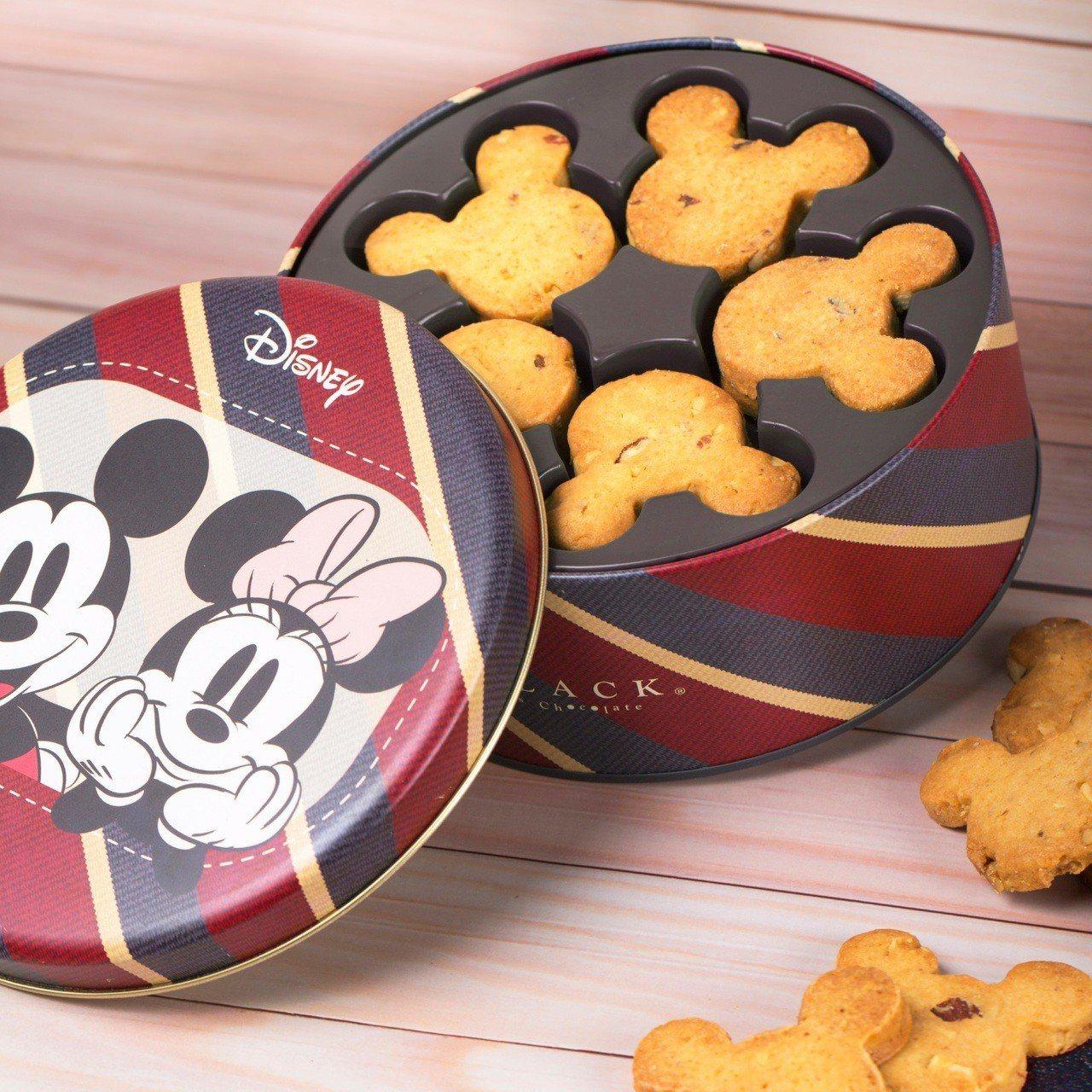 米奇手工曲奇餅乾禮盒,售價350元。圖/BLACK As Chocolate提供