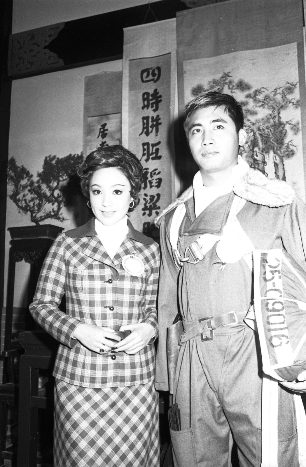 梁修身與李菁曾在「筧橋英烈傳」演夫妻。圖/報系資料照片