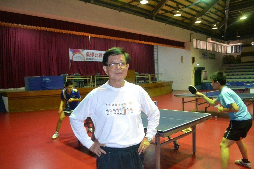 桌球教練林忠雄。 聯合報系資料照片/記者鄭惠仁攝影