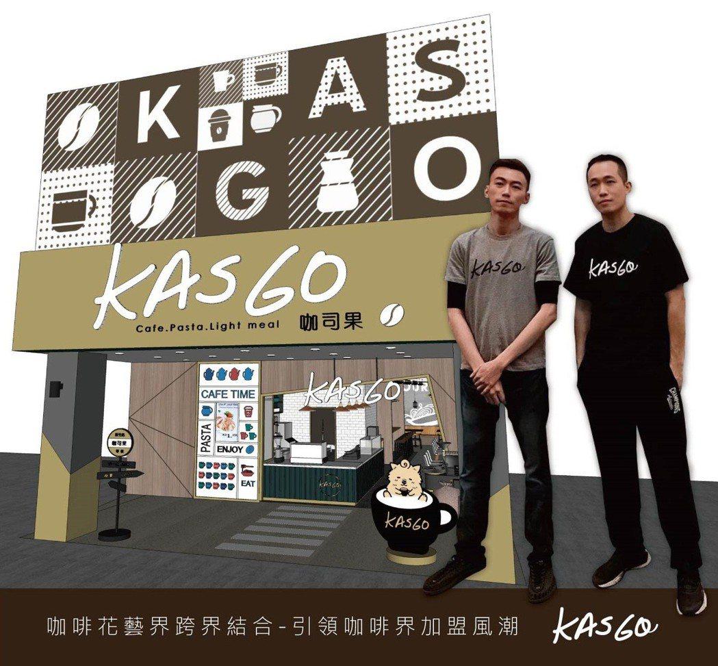 Kasgo咖司果連鎖咖啡飲料加盟,因為有花藝師與客戶的互動以及連結,才能表達出作...