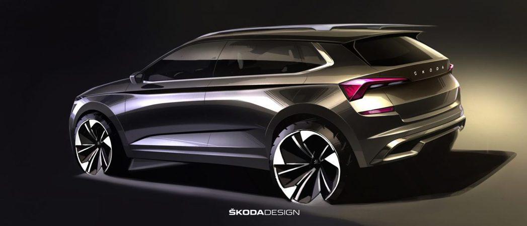 ŠKODA Kamiq設計草圖與概念車版本幾乎一致。 摘自ŠKODA