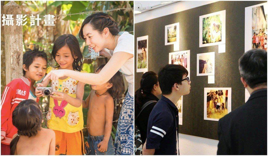圖左:兒童攝影教學計畫。圖右:2016年在東吳大學舉辦的攝影展。圖/張維提供
