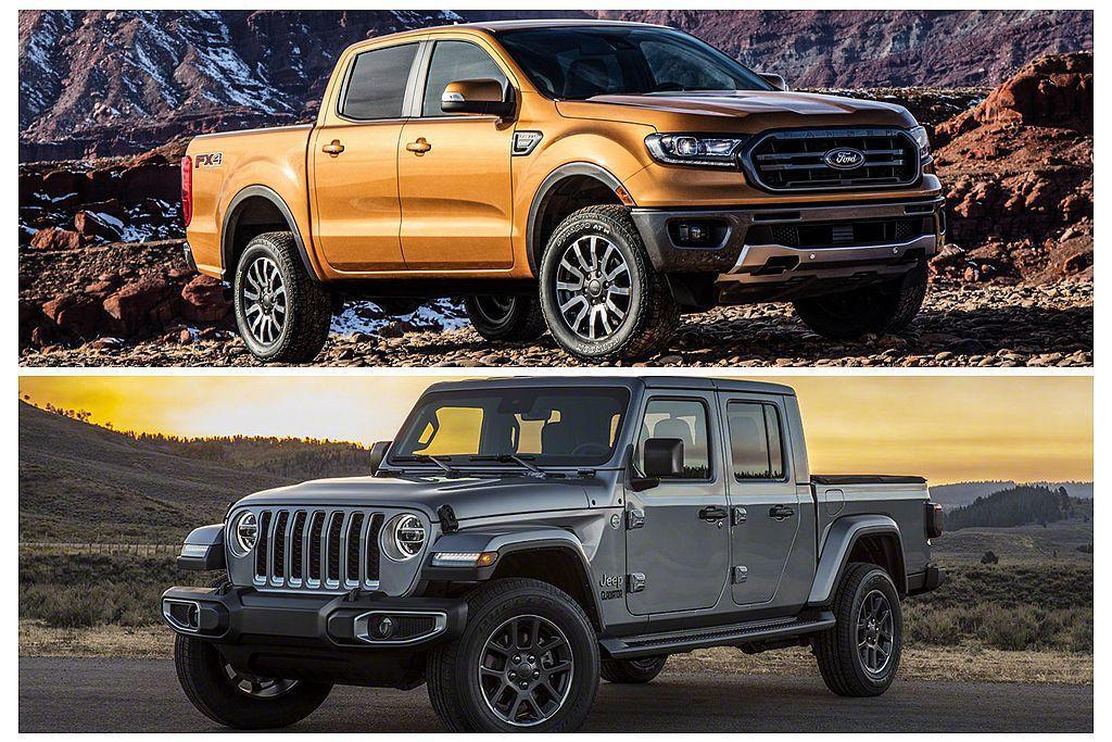 不僅Ford Ranger重返美國市場銷售,久違的Jeep Gladiator更具話題性,這些都是Toyota Tacoma最直接的競爭對手。 圖/Toyota提供