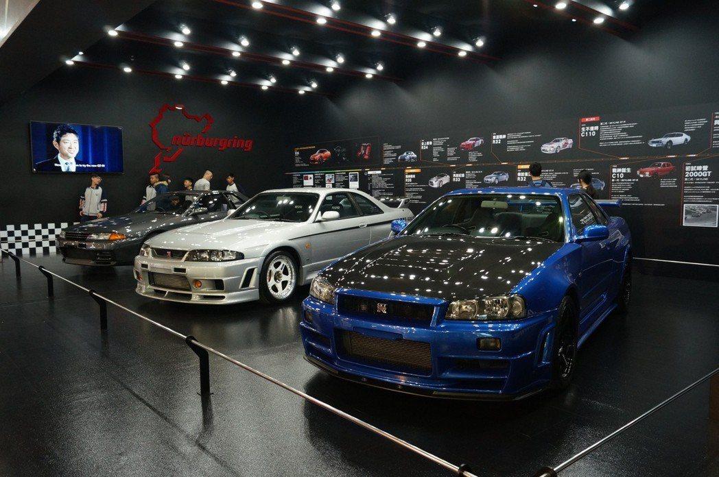 歷代Skyline GT-R。 記者趙駿宏/攝影