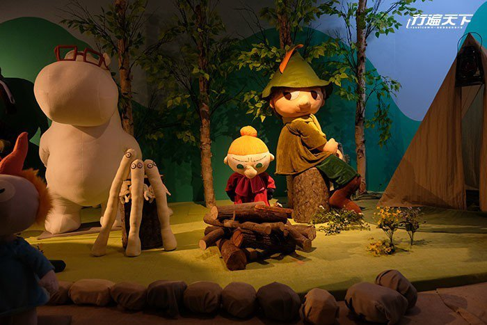 毛巾美術館還有來自芬蘭的卡通人物「嚕嚕米(Moomin)的世界」主題展覽。