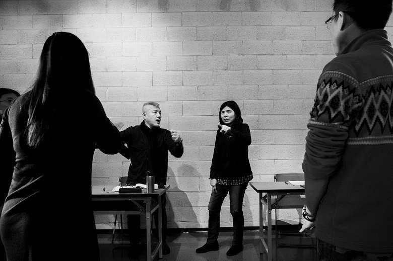 《當迷霧漸散》是導演李小平(左)與編劇施如芳(右)三度合作。 (許斌/攝)