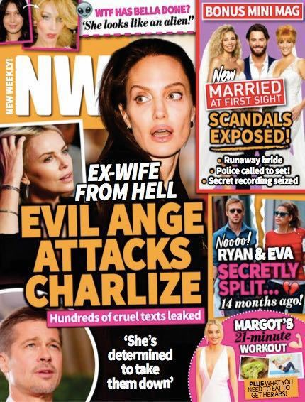 安琪莉娜裘莉被指不滿前夫布萊德彼特和莎莉賽隆交往,變成「地獄來的前妻」。圖/摘自...